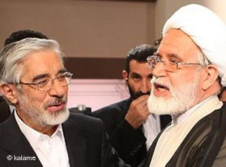 Mehdi Karroubi and Mir Hossein Mousavi